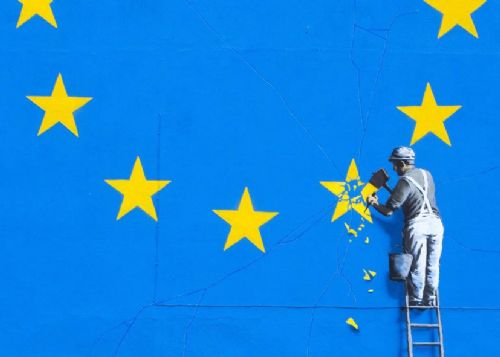 BANKSY - BREXIT - FULL canvas print - self adhesive poster - photo print
